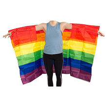Wholesale Stock High Quality Polyester Printed Rainbow Gay Pride Cape Body Flag