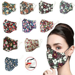 patterns cartoon reusable air pollution wind cotton fabric cloth face mouth dust