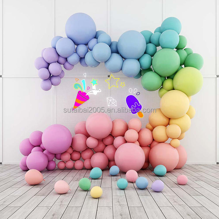 Colorful Balloon Background Photography High Definition Computer Print 3D Backdrops For Photo Studio Stage Decoration