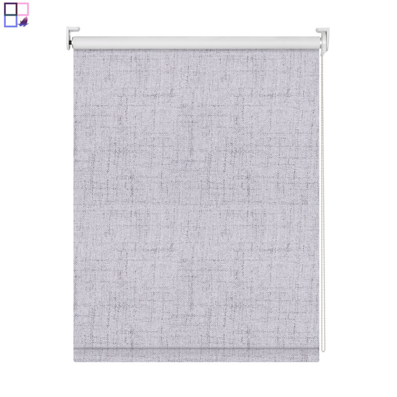 Hot selling Material Fabric Innermor Solid linen living room roman blinds for windows