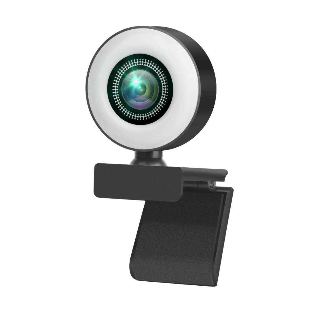 2020 Hot Selling Streaming Web Camera 1080P Autofocus FHD Webcam Built in Adjustable Ring Light for Meeting
