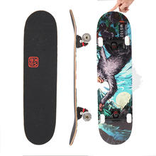 Wholesale 7 Layers Maple pro custom skate board canadian maple Wood complete skateboard