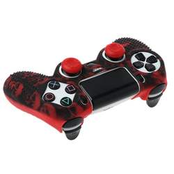 Anti Slip Silicone Protective Skin Case For   4 PS4 With Thumb Stick