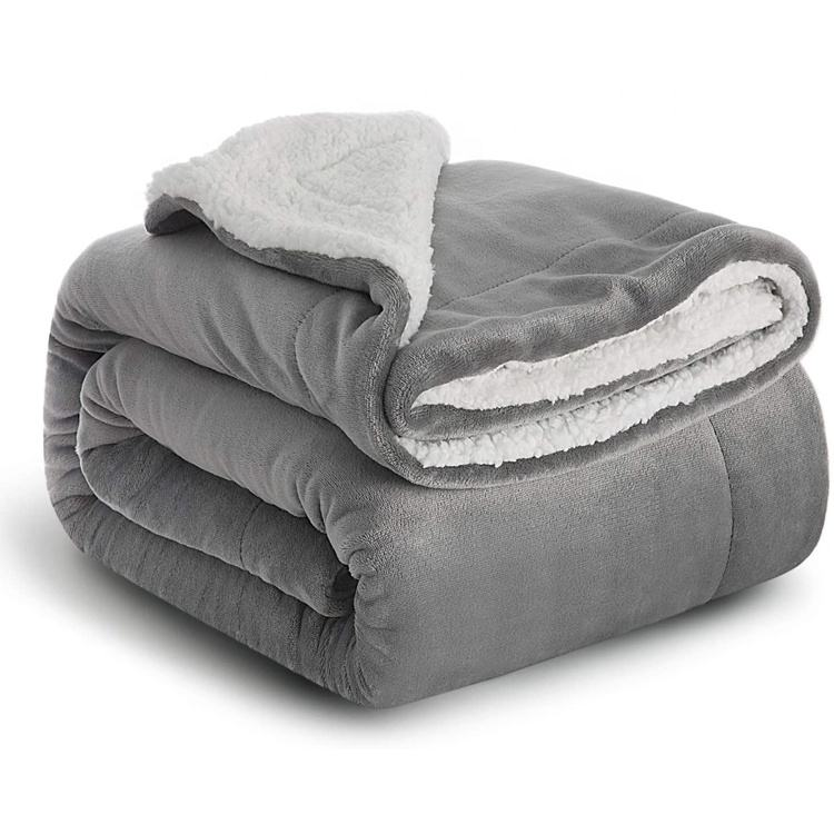 Amazon hot sale OEM factory low price premium quality sherpa blanket