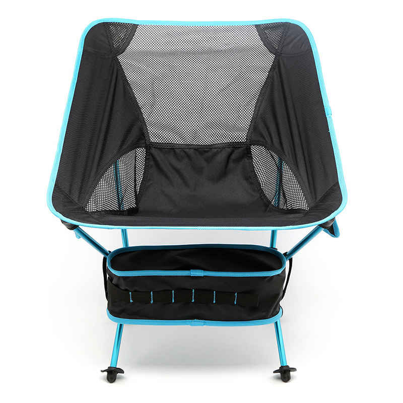 Outdoor Ultralight Portable Capacity Leisure Camping Folding Moon Beach Collapsible Reclining Chairs with Carry Bag