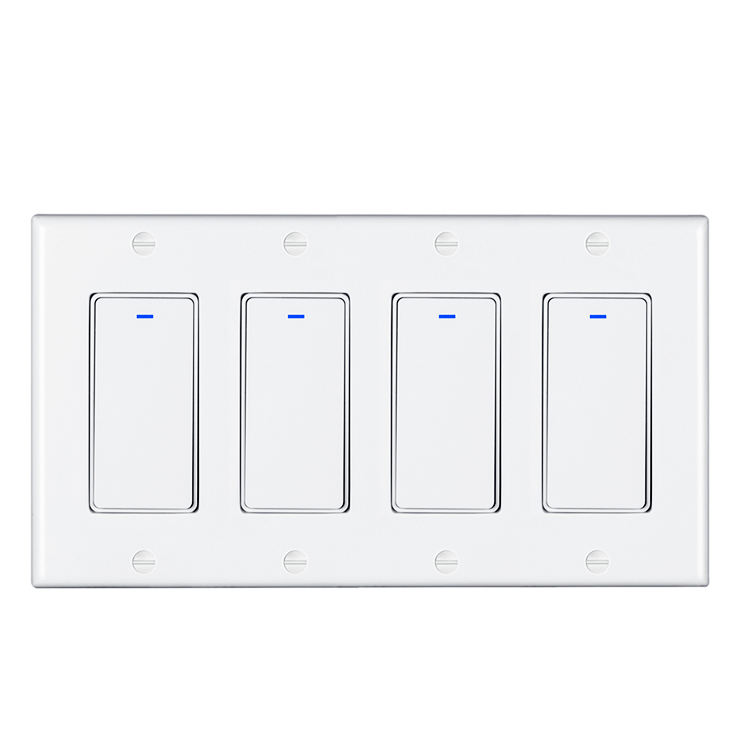 Smart Alexa Switch Wifi Tuya Smart Home Automation 4 Gang Wall Switch