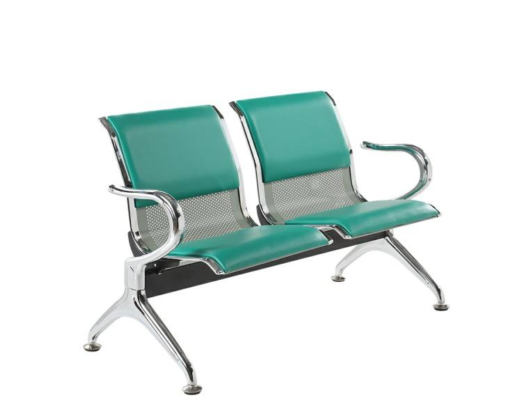 2 Seater Public Area Airport Waiting Room with PVC Cushion waiting chair furniture