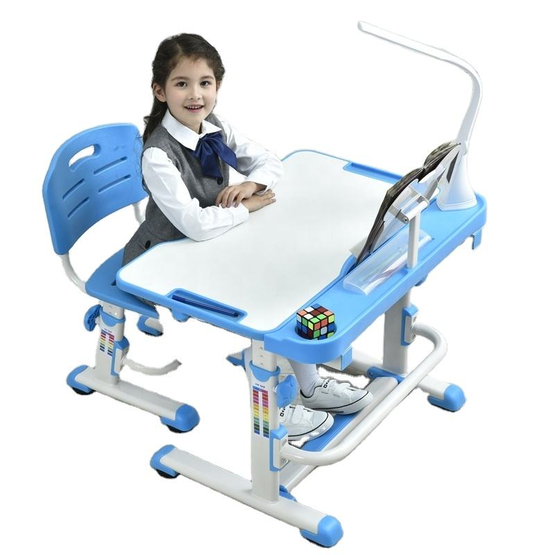 Height adjustable children multifunction study table for kids