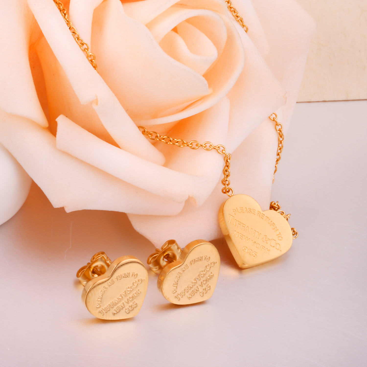 Heart Shape Jewelry Set Gold Jewelry Wedding Jewelry Set Latest Jewellery