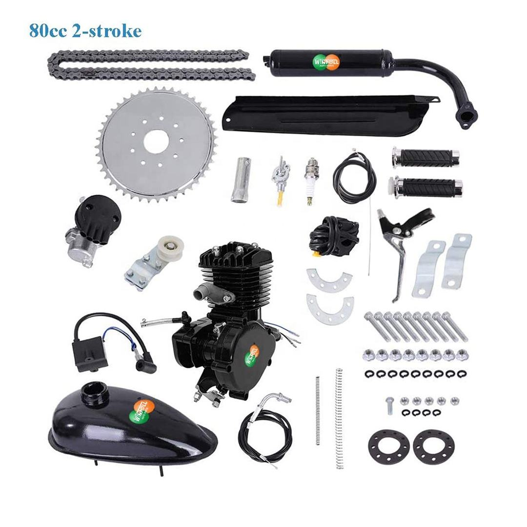 80cc Bicycle Motor Kit 80cc 2-Stroke Bicycle Engine Kit Single Cylinder Gas Motorized Bike Motor Kit Bike Conversion Set