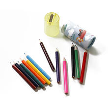 12 color paper tube mini colour pencil set with sharpener