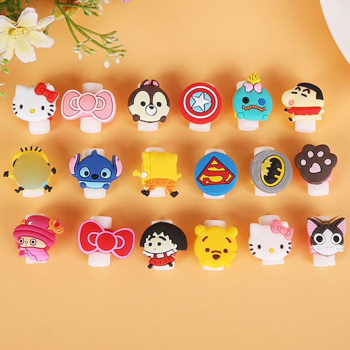 Cute Cartoon USB Cable Winder Protective Sleeve Earphone Cord Wire Cover Data line Protector