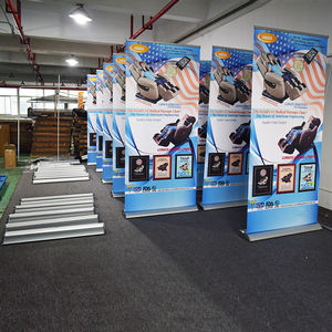 Custom Size Pull Up Display Flex Vloer Roll Up Banner Stand Intrekbare Groothandel Draagbare Goedkope