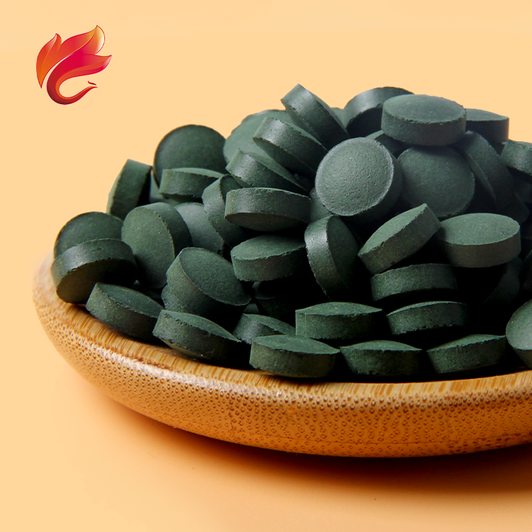 Private Label High Protein Green Mixed Chlorella Spirulina Tablet