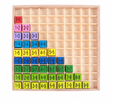 mathematic math Montessori Multiplication tables wooden magnetic educational toy