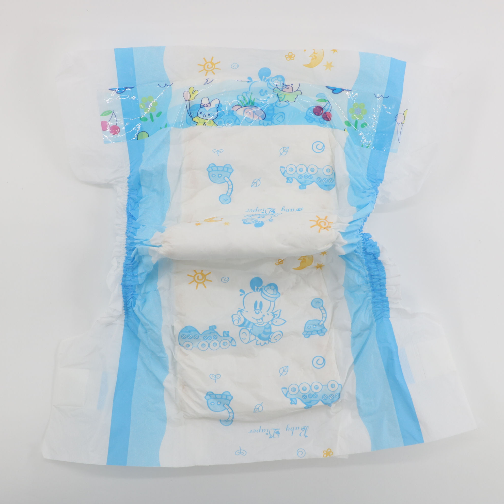 wholesale baby diapers manufacturer biodegradable disposable cloth diapers cotton material color print cheap PE baby diapers