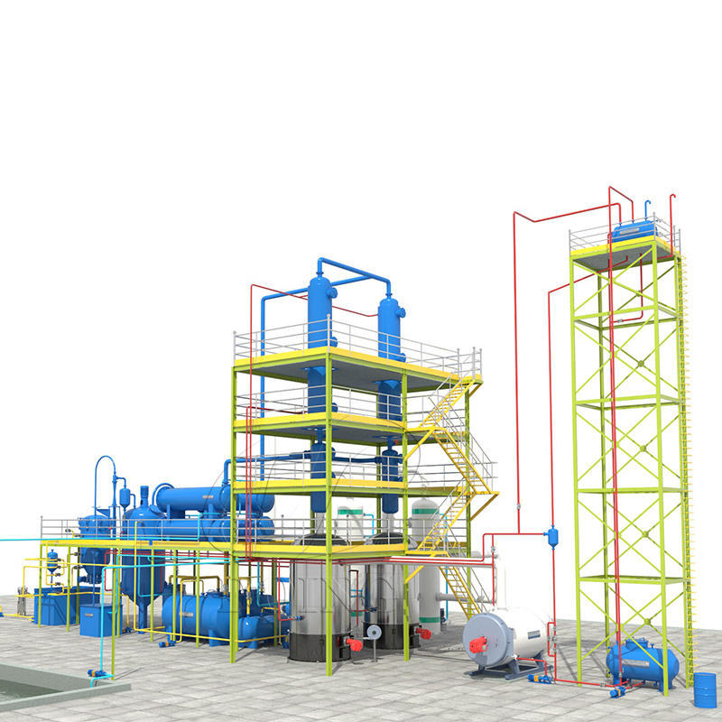 engine oil recycling system waste oil to get diesel fuel oil distillation plant