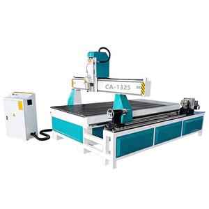 1325 High Speed 4 Axis CNC Rotary Wood Router Made In China With T-slot Table