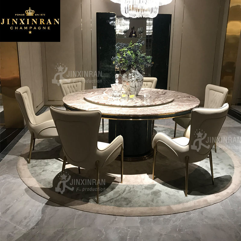 Italian round dining table with leather chairs marble top round dining table with lazy susan round rotating dining table