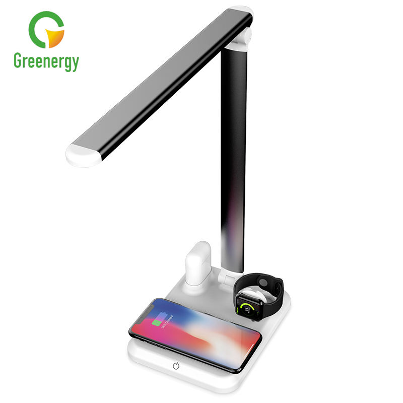 iPhone X/XS/XR/8/8 Plus/XS Max Airpod Watch iWatch SamsungS10+/S9+/S8/S7 Qi wireless charging table lamp