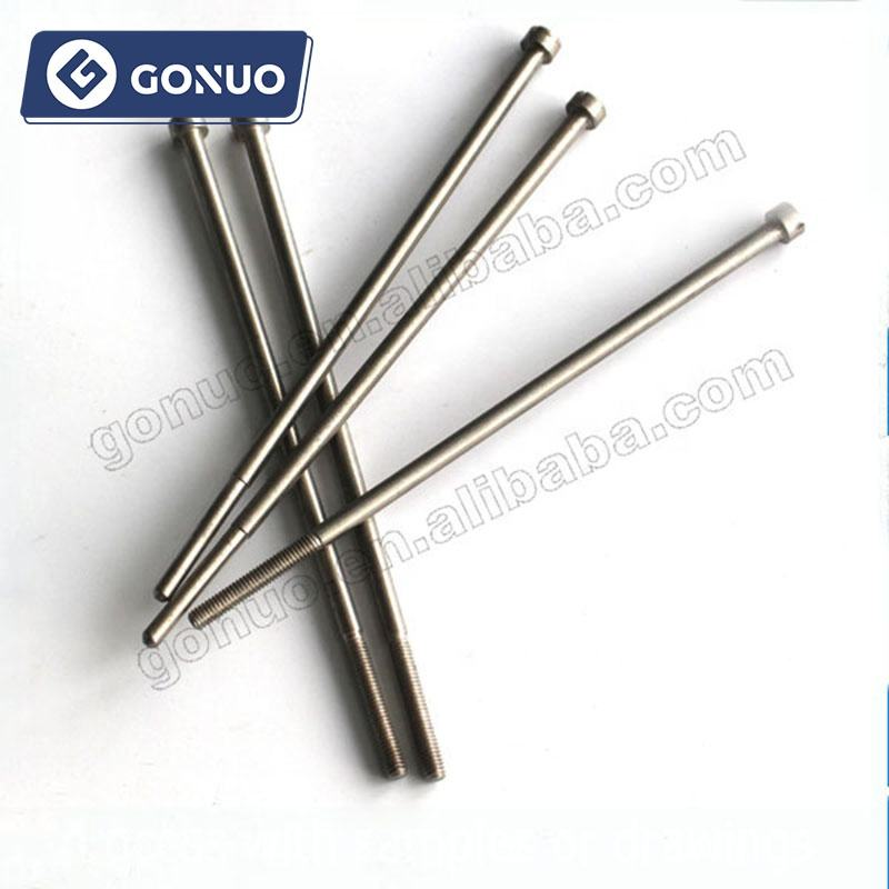Stainless steel lurus slotted kepala pria threaded pukulan ejector pin