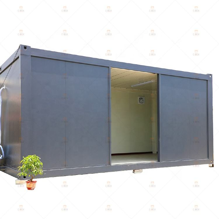Modern prefab living flat pack container house philippines 20 foot portable tiny modular container office price