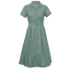 New Summer Fashion Elegant French Style Simple Plain Green Dresses Women