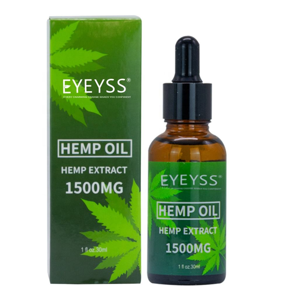 Amazon Hot Sell Private Label Pure Organic Full Spectrum CBD Hemp Oil für Pain Relief