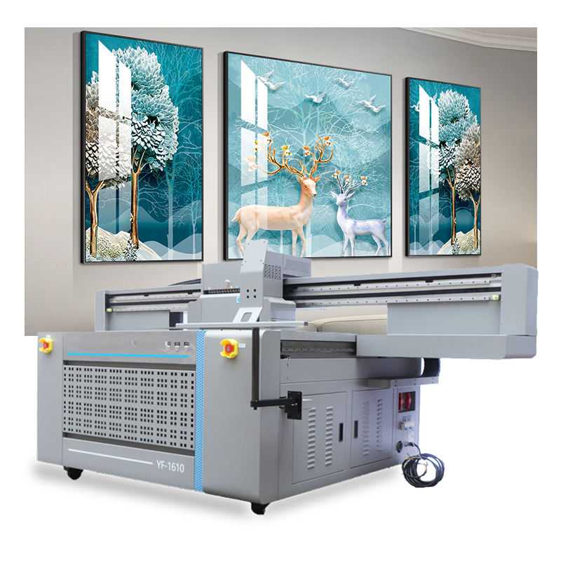 Inkjet Led Industrial Printing Machine For Glass / Ceramic / Wood / Metal / PVC / Leather / Acrylic UV Flatbed Printer