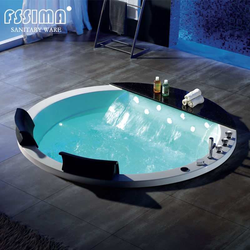 Spa Bath Bathtub Foshan Freestanding Drop-in Whirlpool Massage Spa Bathtub With Bubble Bath Tubs