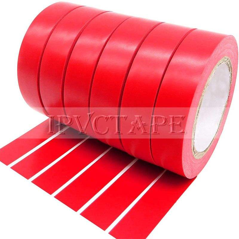 High Voltage PVC Red Electrical Insulation Tape Matte Vinyl Flame Retardant Wire Harness insulating Tape Manufacturer