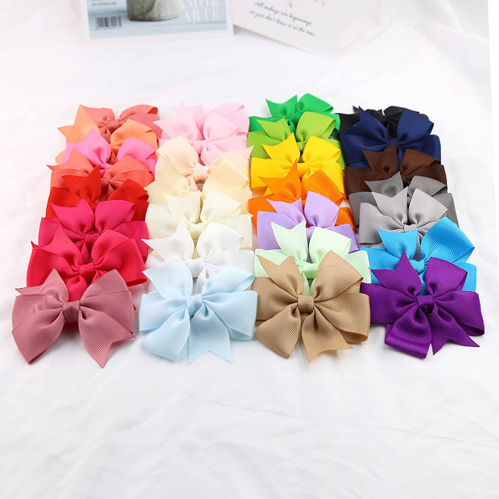Baby Girls Bows Hair Clips Newborn Kids Ribbon Big Bowknot Toddler Girls Hair Accessories