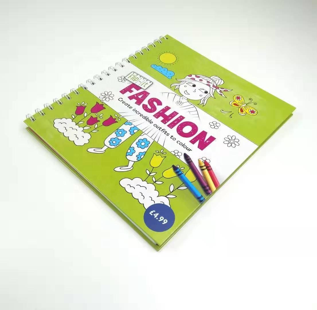 Criativo personalizado adulto <span class=keywords><strong>impressão</strong></span> <span class=keywords><strong>do</strong></span> <span class=keywords><strong>livro</strong></span> <span class=keywords><strong>encadernado</strong></span> em espiral para colorir