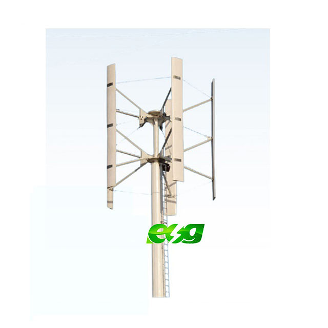 ESG Hot sell 10kw 20kw 30kw wind power magnet vertical axis AC output generator wind turbine