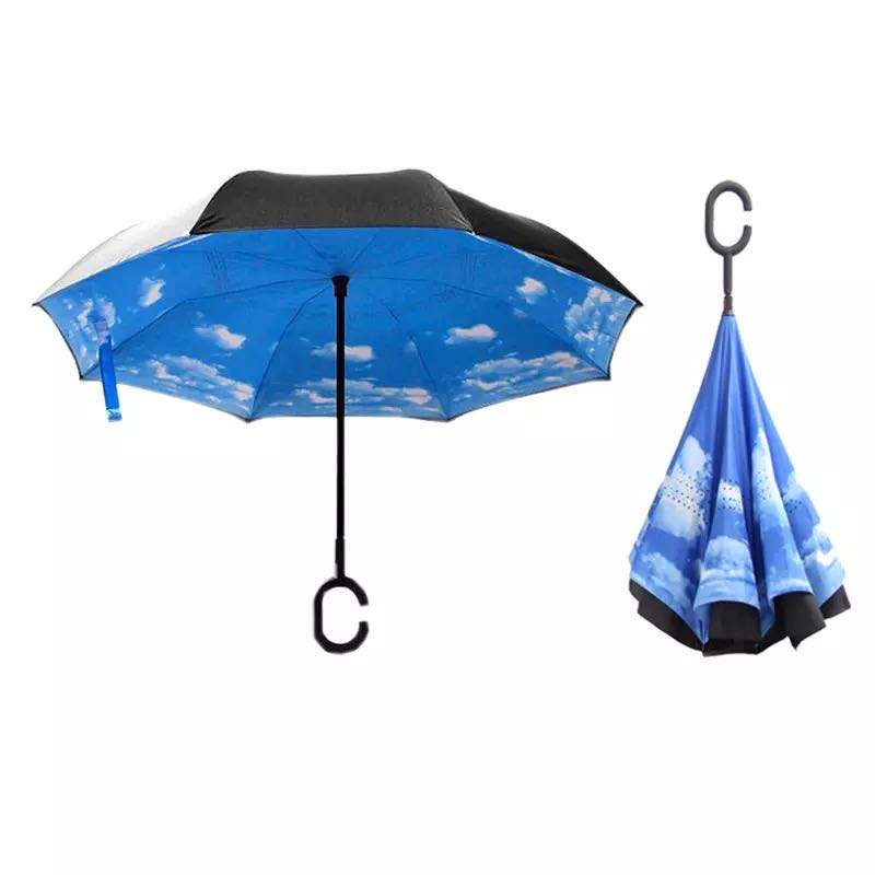High Quality And Low Price Custom Various Suits Wholesale Reverse Foldable Umbrella