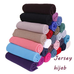 wholesale High quality elasticity solid color foulard women muslim hijab jersey cotton scarf