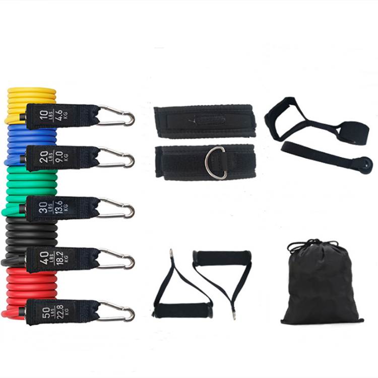 Gacent 11 Piece Resistance Band Set Heavy Resistance Bands Latex Rubber Exercise Bands With Handles