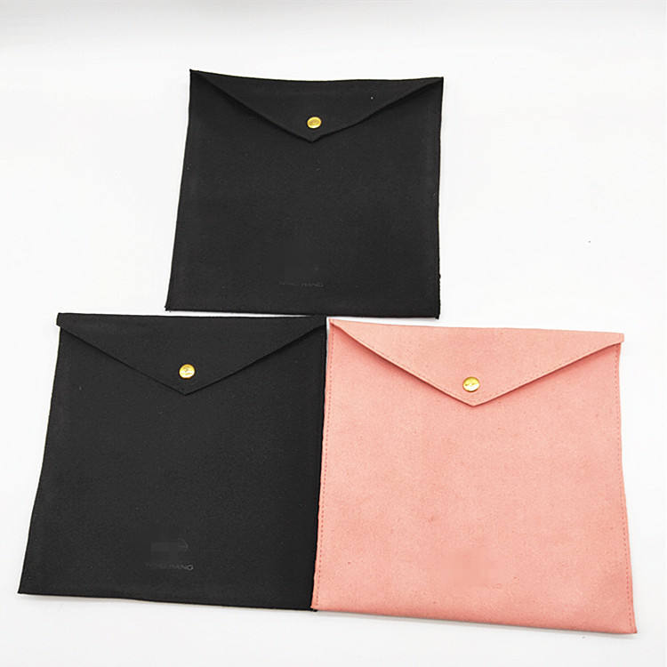 Suede microfiber printed custom small bracelet earring velvet pouch linen cotton canvas packaging jewelry pouch with logo