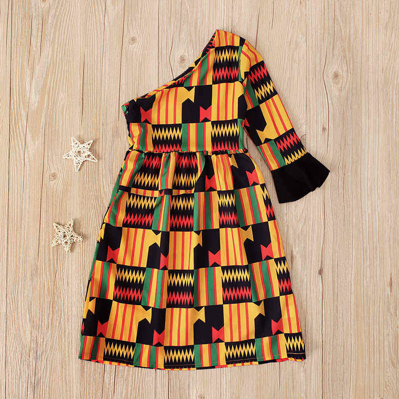 Custom African Dress For Kids Baby Girls Wax Printed Kente Dress Factory Price