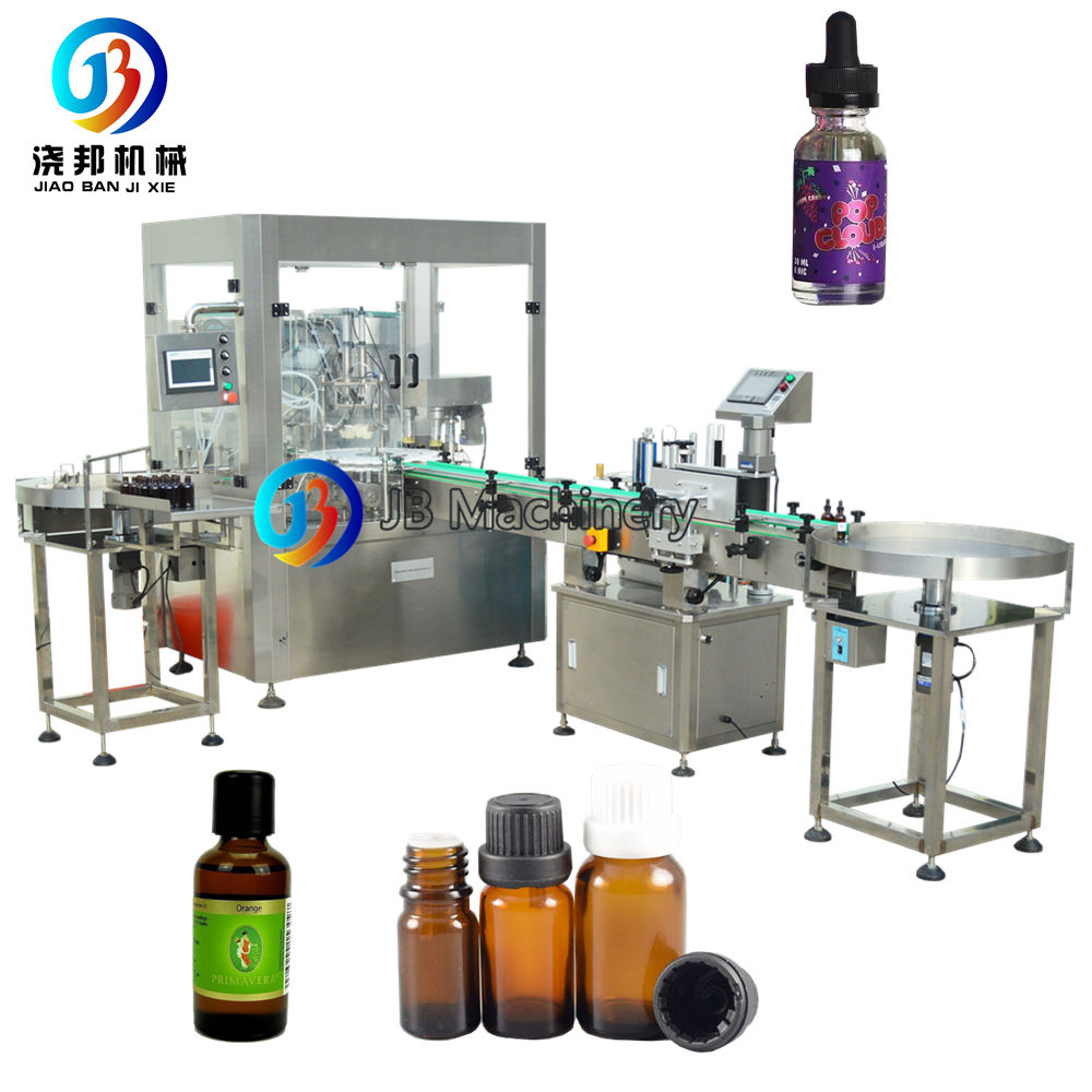 Essential oil Filling Machines Manufacturer For Glass Bottle Fill Plug Screw System Price