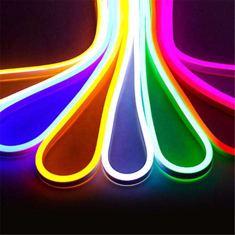 Outdoor Lighting Fiber Optic Rope Light Decoration Waterproof 5M Cuttable RGB High Brightness Serial LED Flexible Neon Light
