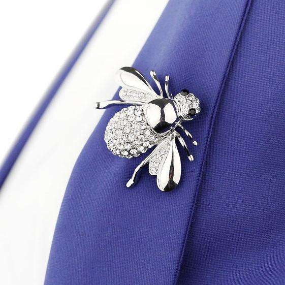 women jewelry fashion diamond bee brooches elegant latest vintage designer brooches men's clothes accessories