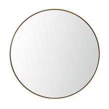 MOK Top 5 start hotel standard stainless steel gold  wall mounted framed mirror for hotel