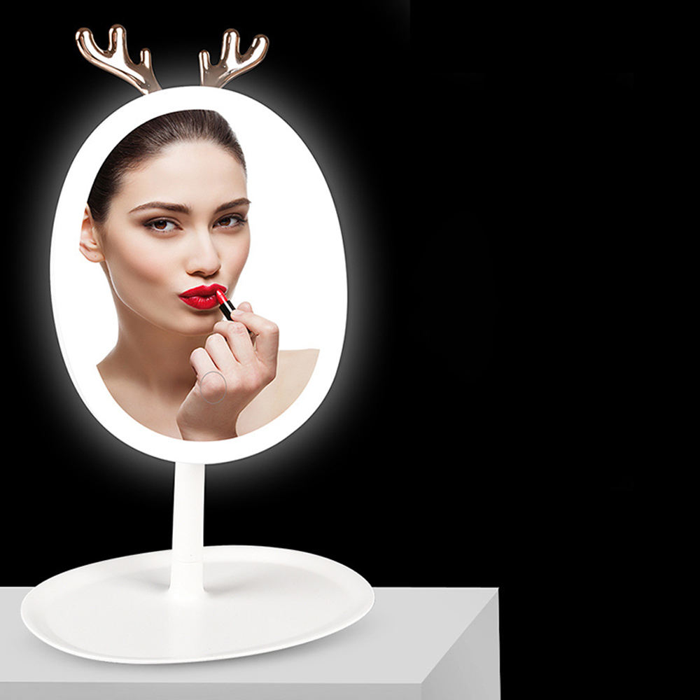 2020 New Product Support Mobile Phone Wireless Charging LED Light Mirror Makeup