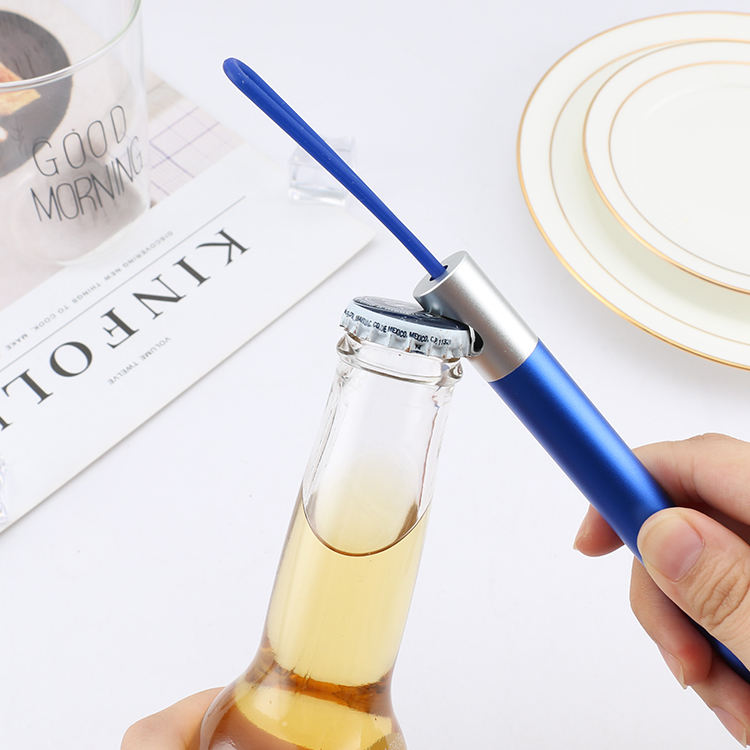 2019 New Design Multi-function Reusable Telescopic Metal Straw with Bottle Opener