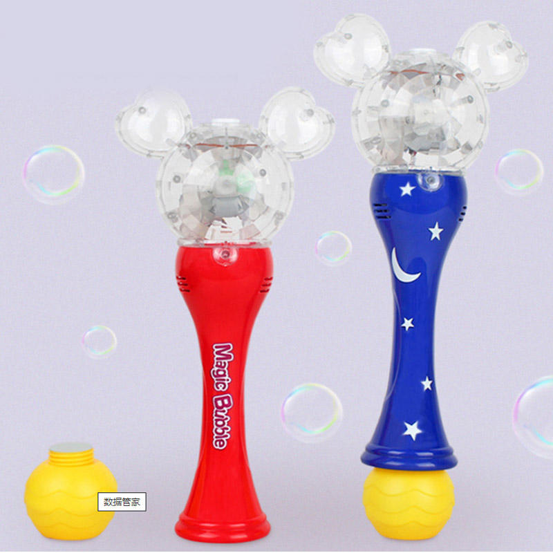 Bubble Gun, Bubble Blaster Gun Bubble Shooter Soap Bubble Toy LED Bubble Ty Gun, Unicorn Bubble wand with Solution Costume toy