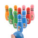 Kids Bowling Play Set Wooden Colorful Bowling Pins with cartoon pictures