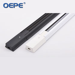 Best sale led track light accessories made in india aluminium rail 2 wire led tracking light rail
