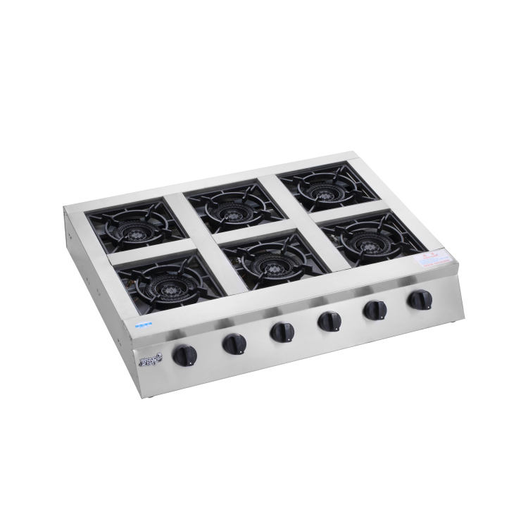 6 burners gas stove/cooking gas cooktop/tempered glass gas hob