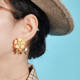New Style 925 Silver Pin Alloy Dumb Gold Plated Real Platinum Flower Women Jewelry Stud Earrings